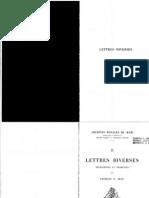 Lettres Diverses