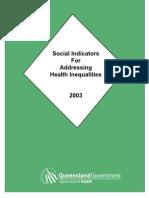 Social Indicators for Addressing Health Inequalities