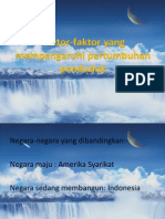 Faktor-Faktor Yang Mempengaruhi Pertumbuhan Penduduk