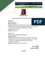 Informe de Gestión Diseño Instruccional Nyorka Duran 2013