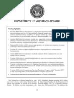 Department of Veterans Affairs Budget