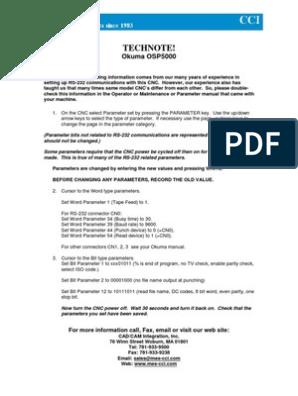 Okuma Osp5000 | Numerical Control | Electrical Connector