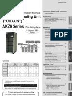 Manual-DAIKIN Oil Cooling Unit AKZ9 Series__AKZ9 Manual_English PIM00318_A
