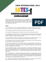 Convocatoria Internacional 2013 Teatro en Guayaquil