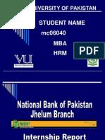13340144 PPT Slides of Internship Report NBP