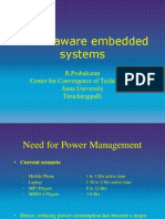 Power Aware Embedded Systems