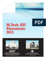 MTech IT Placements 2013