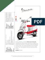 Vespa Product Line Brochure