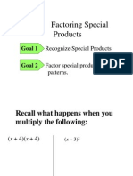 2.1 Factoring Special Products