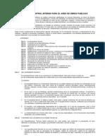 600 Normas de Control Interno Para Obras Publicas