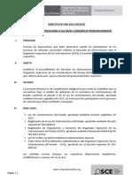 Directivas Aprobadas Por El OSCE 19 Setiembre 2012