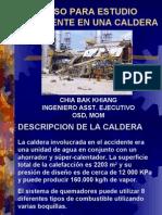 EXPLOSION CALDERA. INVESTIGACION ACCIDENTE Y LECCIONES APRENDIDAS