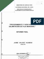 Procedimiento y Guia para la Delimitación de Faja Marginal