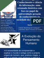 Epistemologia do Conhecimento e Ciência da Informação