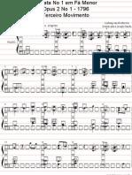 Beethoven - Sonata n° 01 opus 02 - 3º Movimento (piano) [Am]