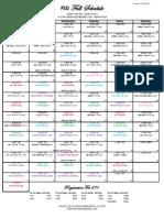 Fall Schedule 2013-2014