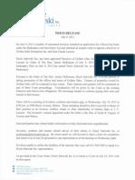 Doyle Salewski News Release