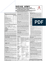 Indian Army - Short Service Commission Job Notification for Men and Women
