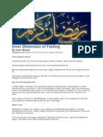 Inner Dimension of Fasting
