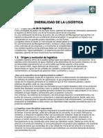 Generalidades de la logística y Canales de Distribución