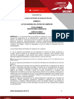 Ley de Hacienda Del Estado de Campeche(1)