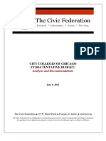 Civic Federation Analysis of City Colleges FY2014 Tentative Budget