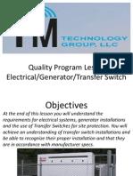 Electrical Generator Transfer Switch