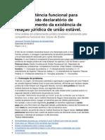 Da competência funcional para julgar pedido declaratório de reconhecimento da existência de relação jurídica de união estável