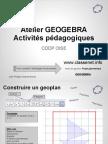 Atelier Geogebra