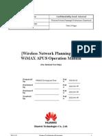 WiMAX APUS 1.7.3 Operation Manual 20100506