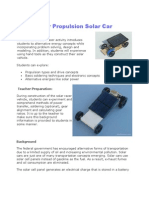 Gear Propulsion Solar Car