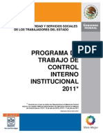 Programa Trabajo Control Interno 2011