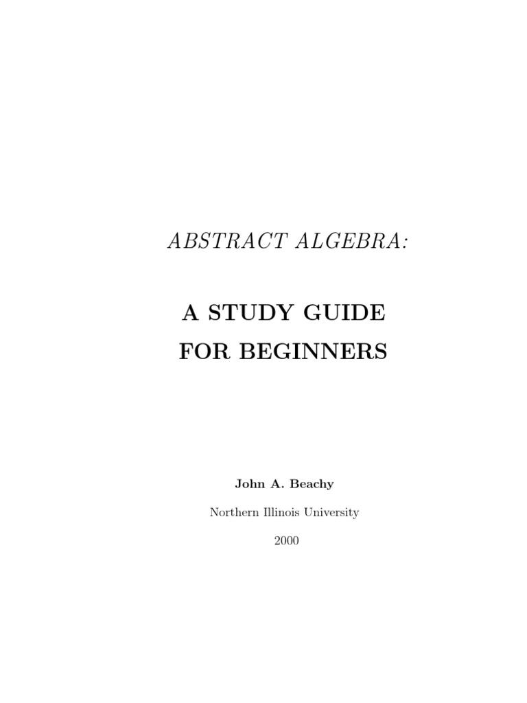 (eBook - PDF - Mathematics) - Abstract Algebra | Group (Mathematics) |  Permutation