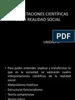 INTERPRETACIONES CIENTÍFICAS DE LA REALIDAD SOCIAL