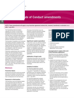 Franchising Code of Conduct Amendments Fact Sheet