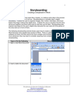 How to Create a Storyboard in Microsoft Office Word