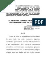 Derecho agrario en México; tres perspectivas de futuro
