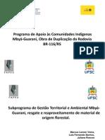 Programa de Apoio às Comunidades IndígenasMbyá-Guarani, Obra de Duplicação da Rodovia BR-116/RS
