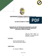 Analisis de Los Productos Bancarios Que Tienen Acceso Los Vendedores Del Mercado Mayorista