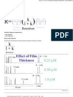 Effect of Film Thickness