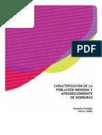 Caracterización de la población indígena y afrodescendiente de Honduras 2011 (1)