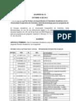 Acuerdo Calendario 2013