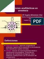 Reacciones Alérgicas en Anestesia
