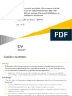 Macroeconomic analysis of a revenue-neutral reduction in the corporate income tax rate financed by an across-the-board limitation on corporate interest expenses