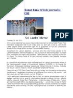 Sri Lankan Diplomat Bans British Journalist Ahead of CHGOM
