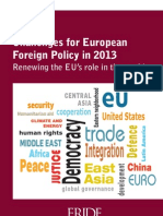 Challenges for European Foreign Policy 2013