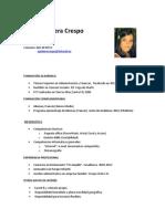 Cristina Aguilera Crespo, Curriculum