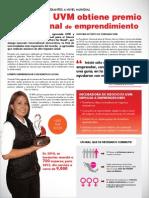 Egresada de UVM obtiene premio internacional de emprendimiento 2013
