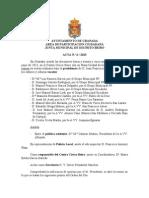 Acta Junta Municipal Distrito Beiro junio 2013