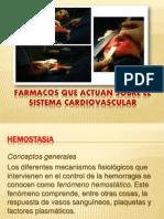 Fármacos que actuan sobre el Sistema Cardiovascular